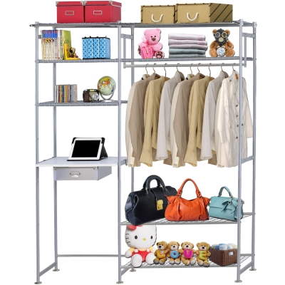 巴塞隆納-WP4型90公分+E60公分電腦桌衣櫥架(無防塵)
