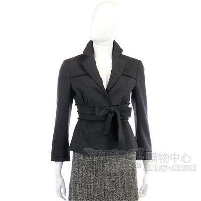 PHILOSOPHY-AF 深灰色V領綁帶外套