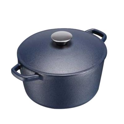 魔法瓶嚴選 日式輕量鑄鐵鍋(深藍)-20cm
