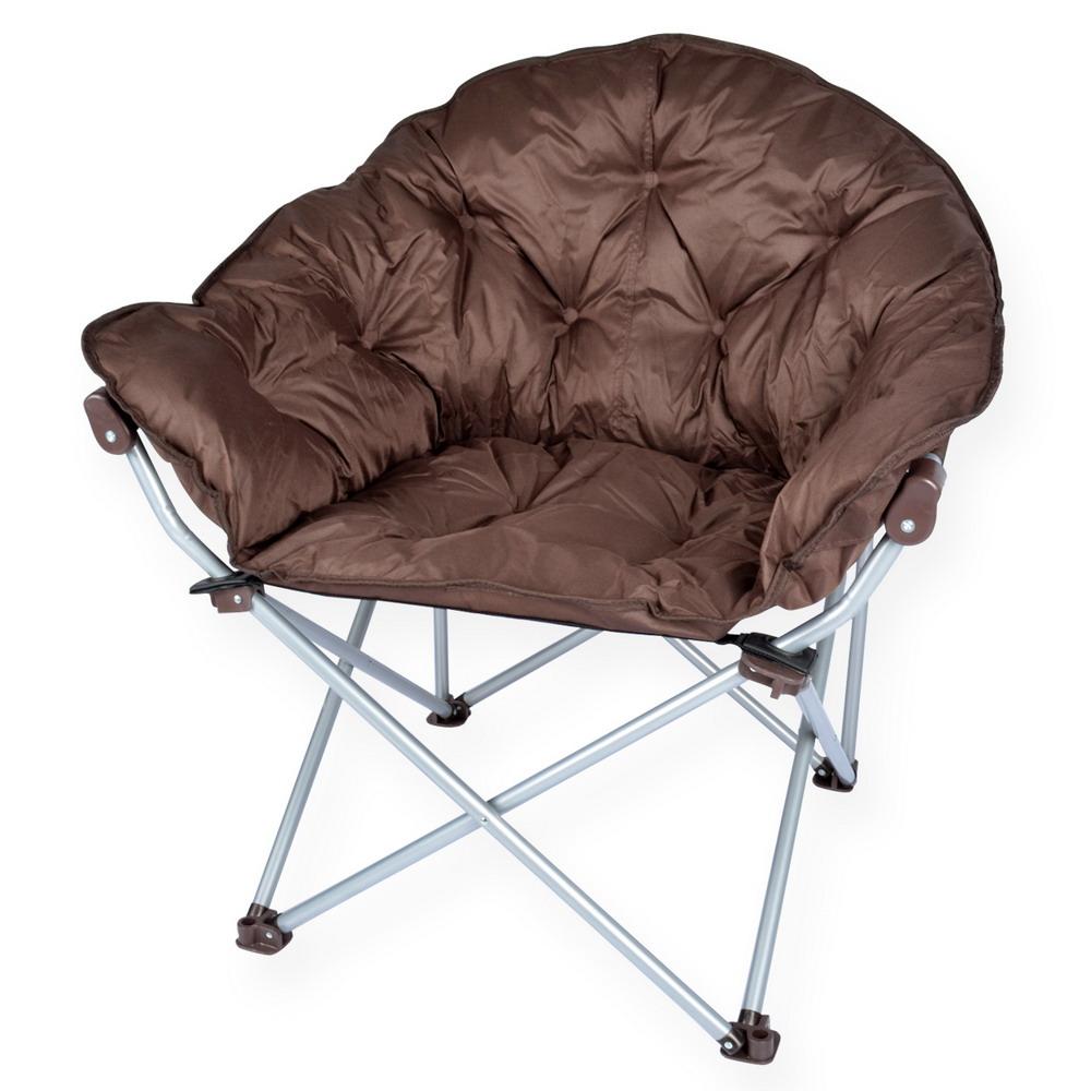 LIFECODE 星球沙發椅折疊椅 咖啡色