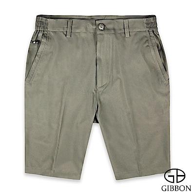 GIBBON 萊卡彈力速乾休閒短褲‧灰綠M-3XL