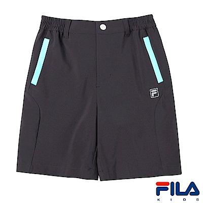 FILA KIDS 男童抗UV彈性平織短褲-鐵灰1SHS-4315-RG
