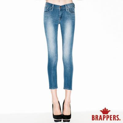 BRAPPERS 女款 美腳系列-女用彈性七分反摺褲-淺藍