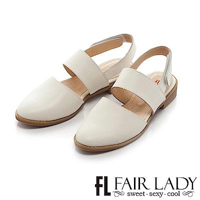 Fair Lady 簡約時尚尖頭紳士鞋 白