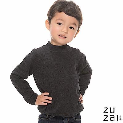 zuzai 自在發熱衣BIELLA YARN童高領羊毛衫-鐵灰色