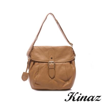 KINAZ-Luckily幸運色記憶系列-濃郁色調斜揹包-經典咖