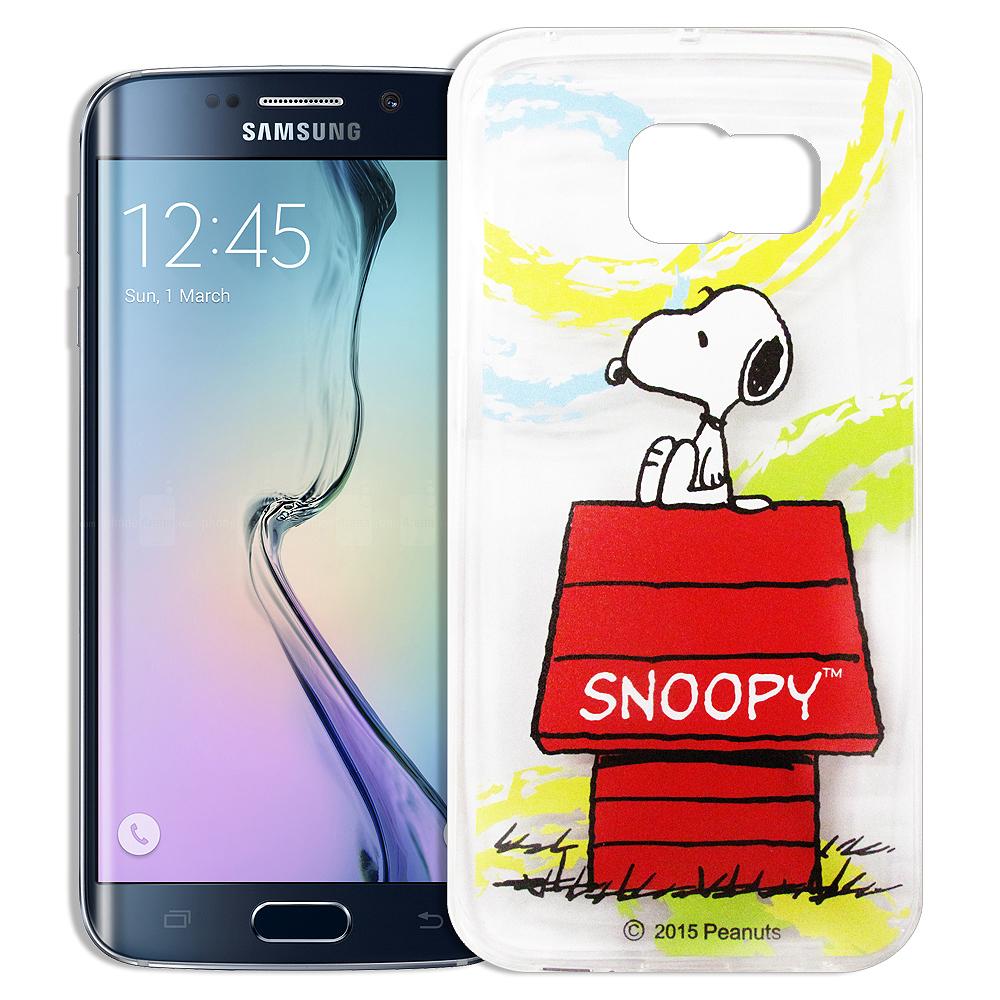史努比SAMSUNG GALAXY S6 Edge透明軟式手機殼自由款