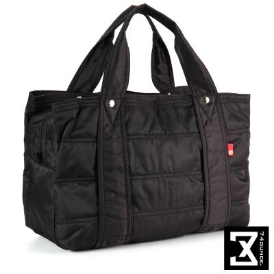 74盎司 多夾層收納尼龍肩背包(大款)[TG-094]黑