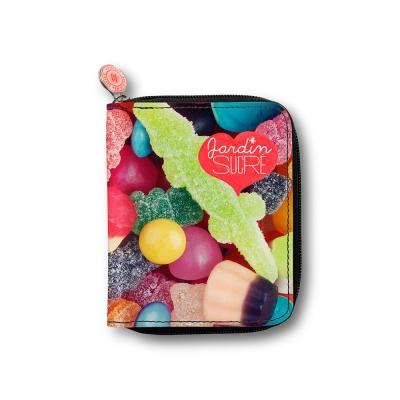 法國麥卡諾茲-甜點系列拉鍊短夾(彩色軟糖)