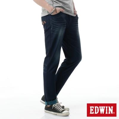 EDWIN-AB褲-迦績褲JERSEYS雙色牛仔褲-男-寶石藍
