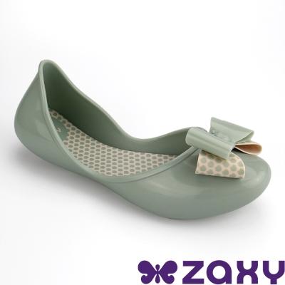 Zaxy 巴西 女童 START BOW II休閒娃娃鞋(淺綠)