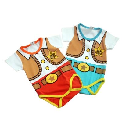 魔法Baby台灣製寶寶短袖連身衣 k40081