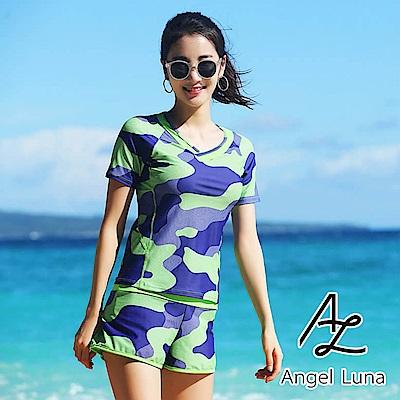 【AngelLuna】迷彩風兩件式泳裝(日本直送 3 - 10 天到貨)