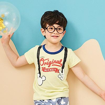Disney 米奇系列復古小紳仕圓領上衣 (2色可選)