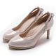 GDC-後水鑽拉帶典雅氣質跟鞋(婚鞋)-粉色 product thumbnail 1