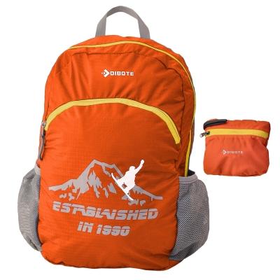 迪伯特DIBOTE 輕便折疊包 折疊背包 登山背包 單車包 - 30L (橘)