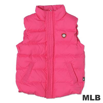 MLB-紐約洋基隊保暖羽絨背心-深粉紅(女)