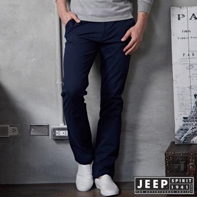 JEEP 時尚型男休閒褲 -深藍