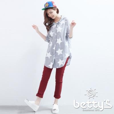 betty-s貝蒂思-修飾剪裁設計長褲-酒紅