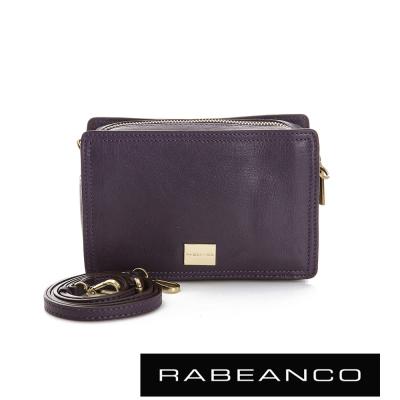 RABEANCO 心系列羊皮幸福方塊包 深紫