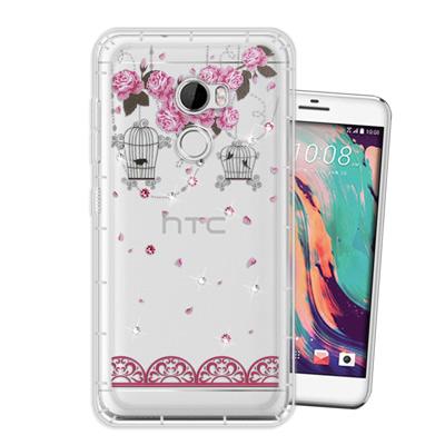 WT HTC One X10 奧地利水晶彩繪空壓手機殼(璀璨蕾絲)