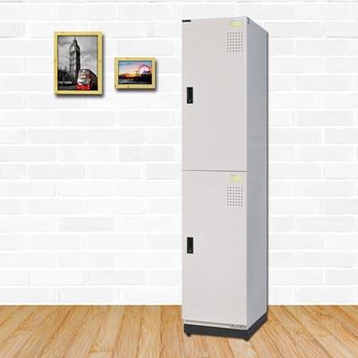 時尚屋 菲里斯多用途鋼製二層置物櫃 寬39x深51x高185cm