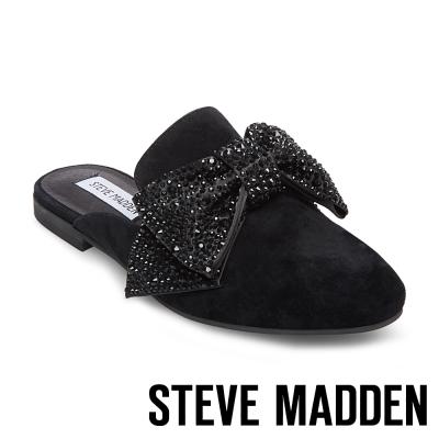 STEVE MADDEN-HARLAN-BLACK 水鑽蝴蝶結穆勒鞋-黑色