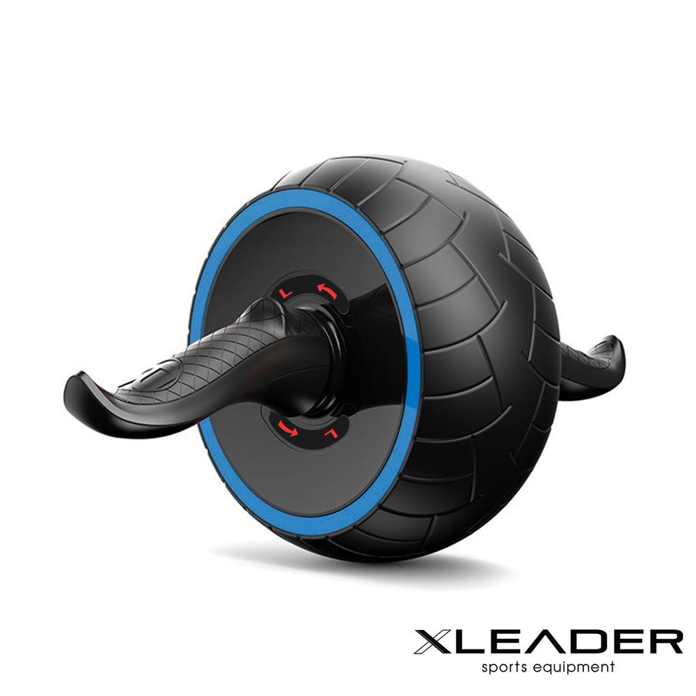Leader X 自動回彈 耐磨迴力健腹輪 健腹器 滾輪 附跪墊 藍色 @ Y!購物