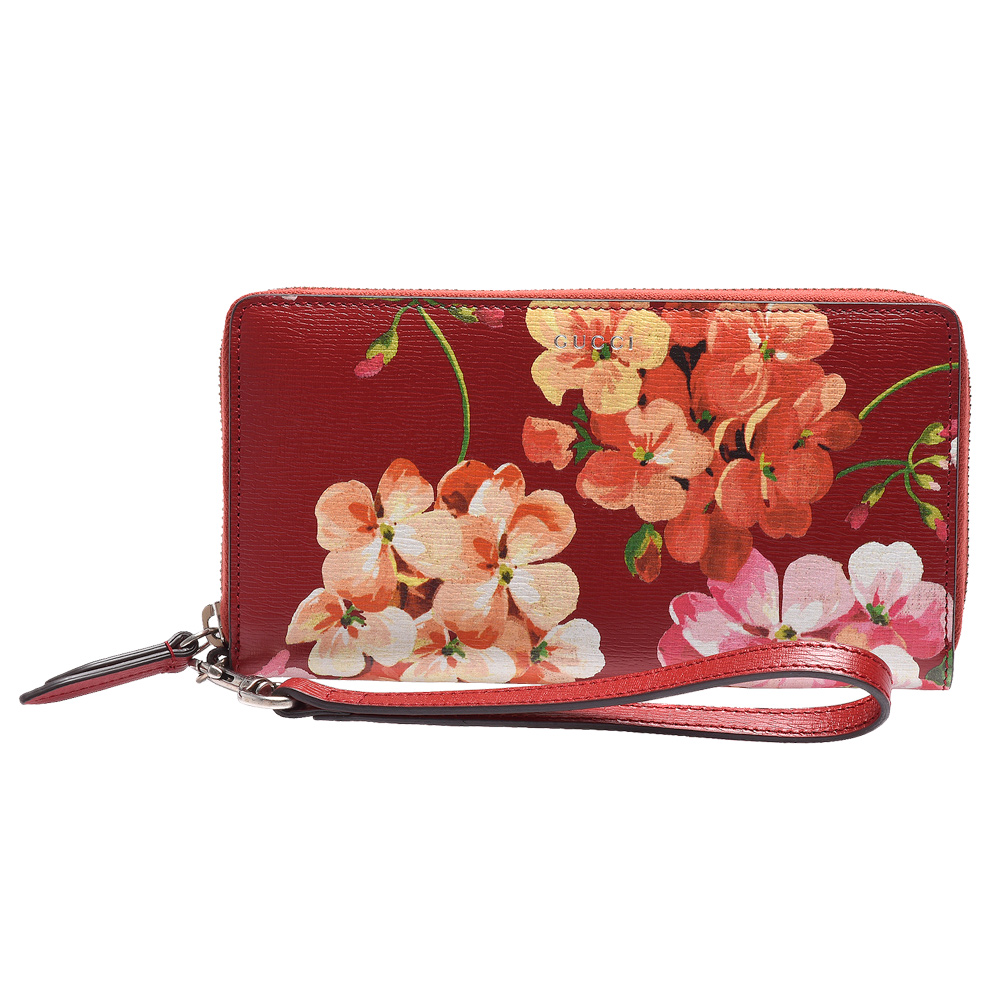 GUCCI Blooms系列經典牛皮掛腕式手提/手拿包(紅色)GUCCI