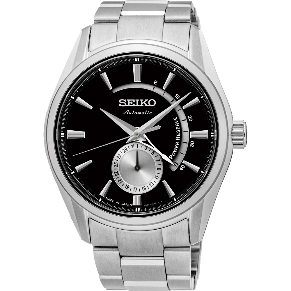 SEIKO PRESAGE 4R57 動力儲存機械腕錶(SSA305J1)-黑/42mm