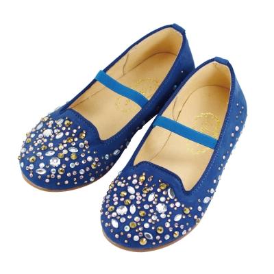 Swan天鵝童鞋-閃耀水鑽樂福鞋  3720-藍
