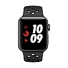 [無卡分期-12期] Apple Watch Nike+行動網路,38mm 灰鋁配黑色錶帶