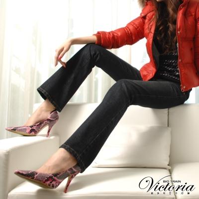 Victoria Victoria低腰靴型褲-女-深藍