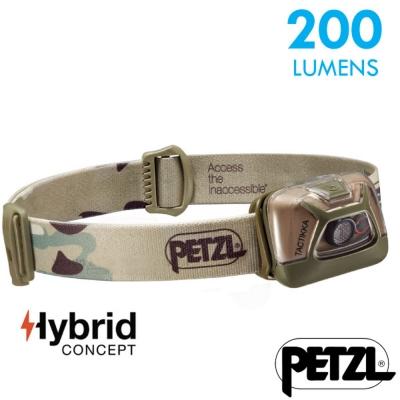 【法國 Petzl】新款 TACTIKKA 超輕量標準頭燈(200流明)_迷彩