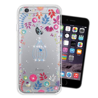 WT iPhone6s / 6 Plus 5.5吋 奧地利水晶彩繪空壓手機殼(鳥...