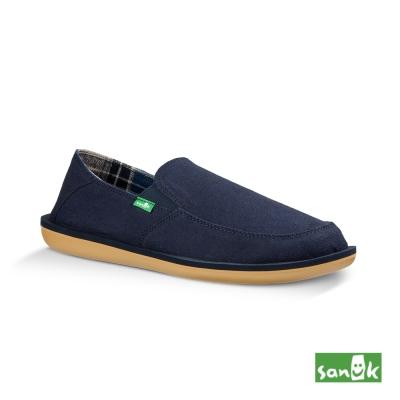 SANUK VICE TX內格紋懶人鞋-男款(藍色)
