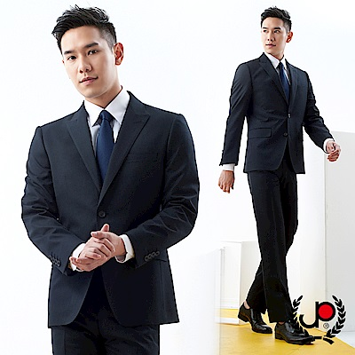 極品西服 品味風範小劍領仿毛西裝外套_深藍色 (AS735-3G)