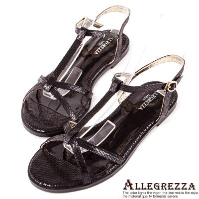 ALLEGREZZA-LADY系列-優雅時尚涼鞋-黑