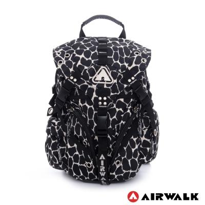AIRWALK-豹的速度-百變時尚三叉扣後背包-野性黑
