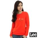 Lee 101+長袖圓領厚T恤-橘色