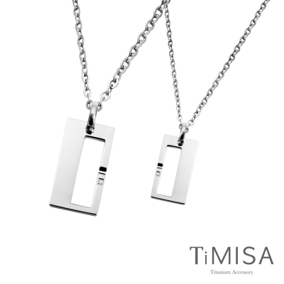 TiMISA《扣住幸福》純鈦情人對鍊/成對項鍊