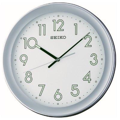 SEIKO 日本精工 夜光掛鐘 時鐘(QXA670S)-灰框/36.8cm