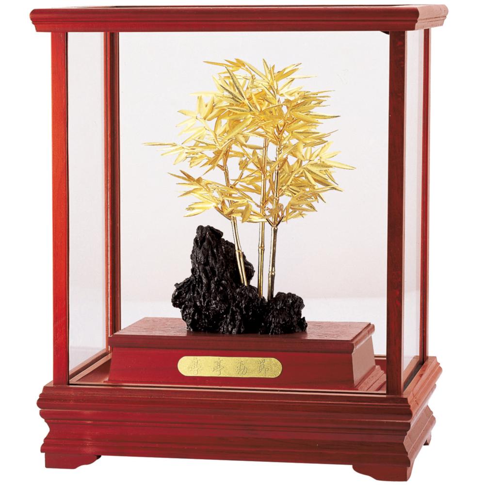 開運陶源純金竹節節高升立體金箔櫥窗