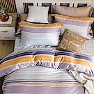 鴻宇HongYew 300織天絲 換日線 單人床包枕套兩件組