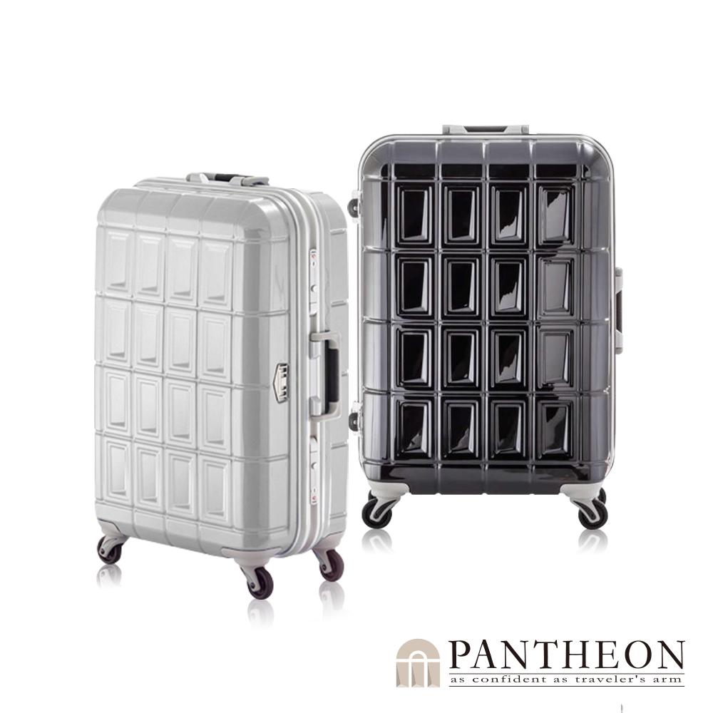 日本PANTHEON 24吋 經典黑  網美行李箱 輕量鋁框登機箱