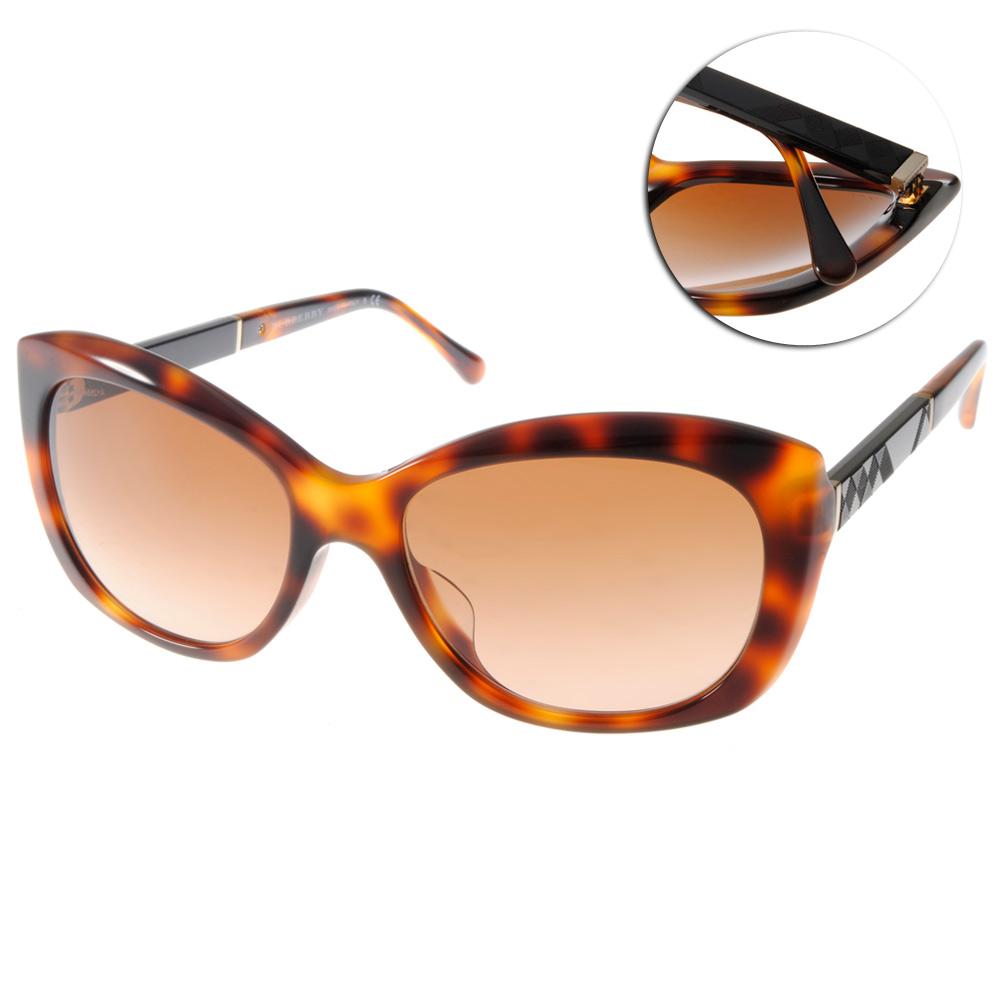 BURBERRY太陽眼鏡 英倫貓眼款/琥珀#BU4164F 331613