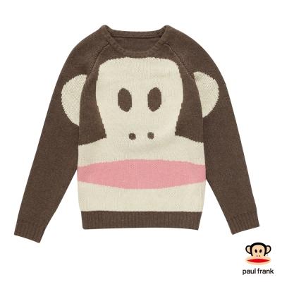 PAUL FRANK-Julius臉部放大鏡造型長袖T恤-咖啡(女)