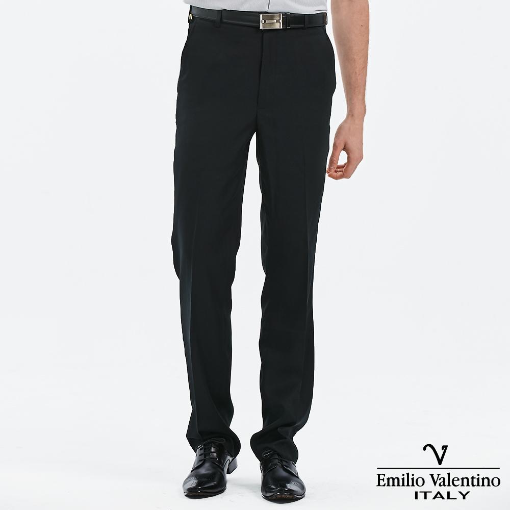 Emilio Valentino 范倫提諾吸濕排汗平面西褲-黑