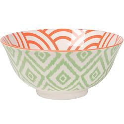 NOW 圖騰餐碗(鑽紋綠)