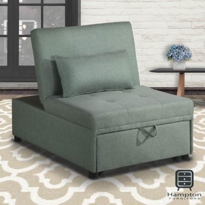 漢妮Hampton莫里斯布面單人沙發床-淺綠-沙發床/躺椅/貴妃椅